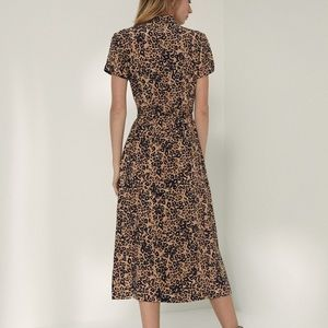Wilfred leopard maxi dress M